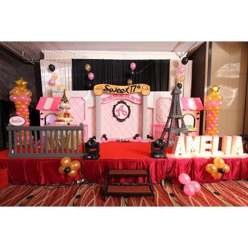 Foto Produk Dekorasi ulang tahun/sweet 17/ eiffel theme/patung eiffel dari littlesunniedecoration