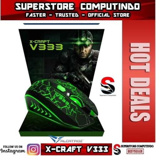 Foto Produk Alcatroz X-Craft V333 -7 LED Effect Gaming Mouse dari SuperStore Computindo