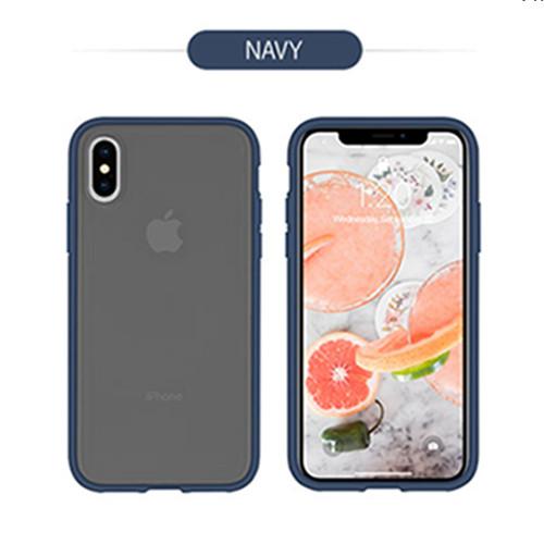 Foto Produk GOOSPERY iPhone XR Peach Garden Bumper Case - Navy dari Goospery Indonesia