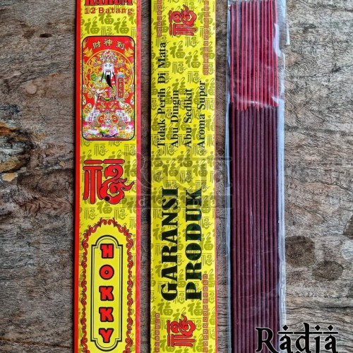 Foto Produk Dupa Hio Wangi Premium HOKKY 12batang Dupa Keberuntungan Lucky Incense dari Radja Doepa