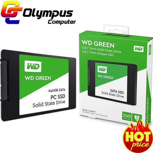 Foto Produk Baru SSD WD Green 240GB SATA3 2.5 inch Solid State Drive dari OLYMPUS COMPUTER