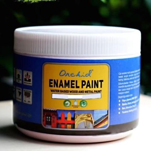 Foto Produk Cat Besi dan Kayu Waterbased Orchid Enamel Paint Solid color minican dari Semesta Satu