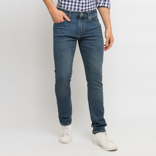 Foto Produk VENGOZ Celana Jeans Pria Premium Slim Fit - Dark Blue Wash - 29 dari VENGOZ