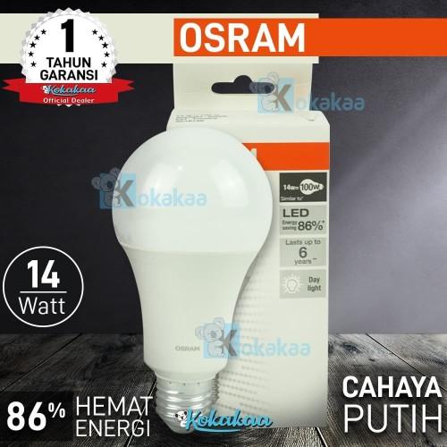 Foto Produk Osram Lampu Bohlam LED 14W (Daya Terang Pijar 100W) Hemat Energi 85% dari Kokakaa