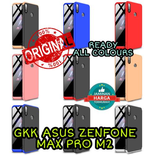 Foto Produk GKK asus zenfone max pro m2 case 360 casing armor anticrack slim keren - BLACK BLUE dari Caseayangan ID