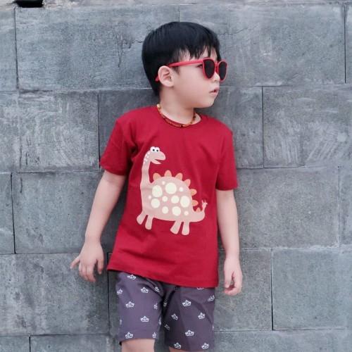 Foto Produk Kaos Anak - Anak | L069 Dinosaur Tee by Little Jergio - Medium dari Little Jergio