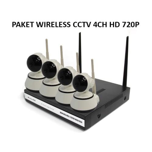 Foto Produk WIRELESS IP CAMERA CCTV 4 CHANNEL PLUS NVR WIFI dari EtalaseBelanja