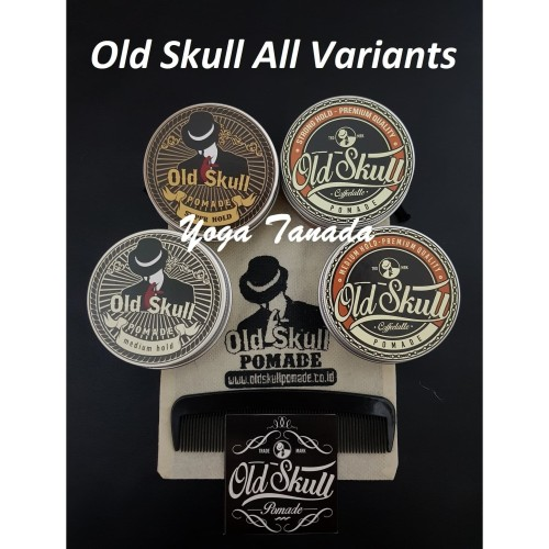 Foto Produk Pomade Old Skull All Variant Strong and Medium Hold (FREE SISIR SAKU) - Coffee Strong dari Yoga Tanada