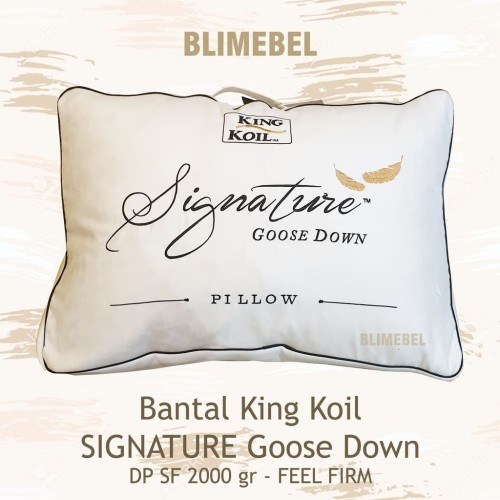 Foto Produk Bantal Kingkoil/King Koil Goose Down DP SF 2000gr Firm/Bulu Angsa dari Blimebel