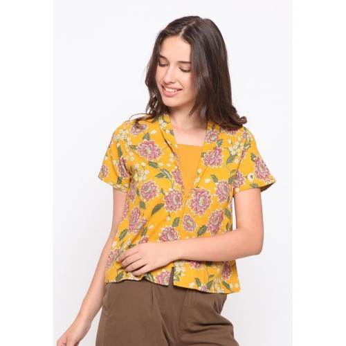 Foto Produk Rodeo - Batik Wanita - Leal Batik - Yellow - L dari Rodeo Official