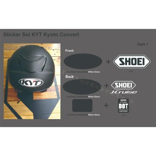 Foto Produk Sticker Set Helm KYT Kyoto Convert Shoei Jcruise J Cruise dari Fuel