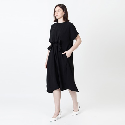 Foto Produk DRAWSTRING DRESS - BLACK - S dari WASTU_STUDIO