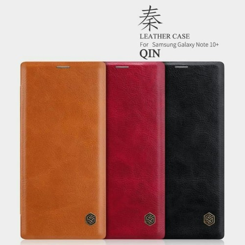 Foto Produk Flip Cover Nillkin QIN Samsung Galaxy Note 10 Plus Leather Case Casing dari SmartBuy-Mart