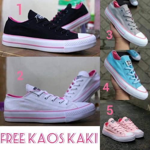 Foto Produk Converse Allstars CT size 36 - 40 sepatu wanita sneakers hitam tosca - Satu, 36 dari supplier sepatu 189