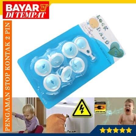 Foto Produk Pengaman Stop Kontak Listrik Untuk Bayi/Anak (Isi 6pcs+1kunci) dari Maju Grosir