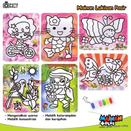 Foto Produk Mainan Edukasi / Edukatif - Lukisan Pasir Warna - Bagus dan Murah dari MainanPlus