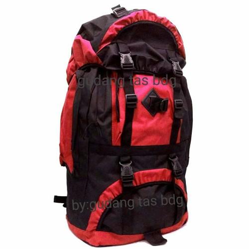 Foto Produk NEW TAS RANSEL GUNUNG MURAH(60L) TAS CAMPING - Merah dari gudang tas 1000