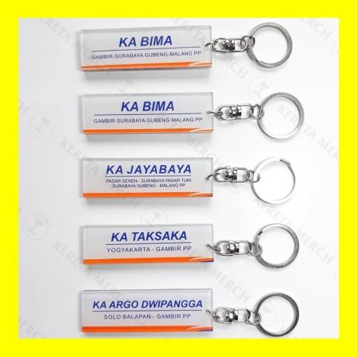 Foto Produk Gantungan Kunci -Nama KA Indonesia- dari Kereta Merch