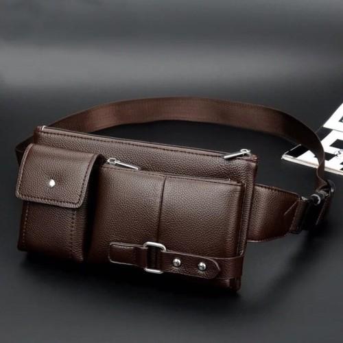 Foto Produk Tas Selempang Waistbag Kulit Pria import 682 C6R2 dari Harapan05