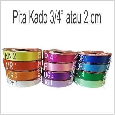 Foto Produk Pita Kado / pita Jepang 3/4 inch atau 2cm - Putih dari JASA SABLON BORDIR