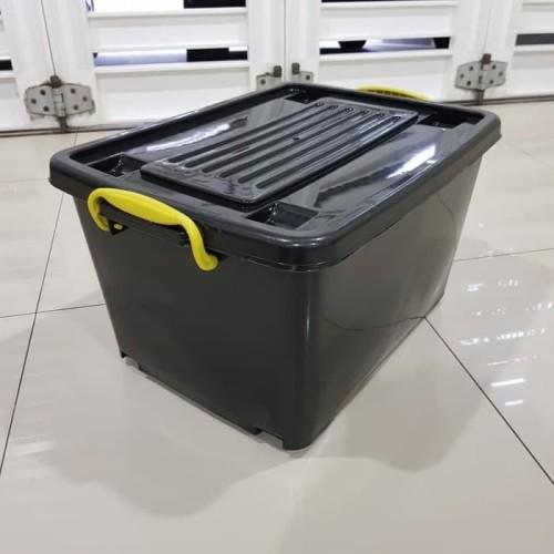 Foto Produk container box 55 hitam box container hitam 55 roller box hitam 55 dari can.corner
