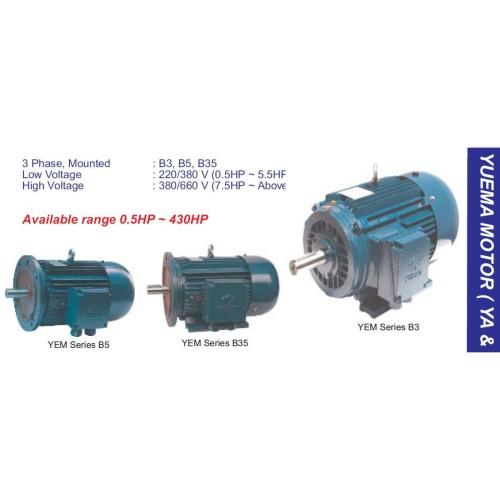 Foto Produk YUEMA AC-3ph Motor Listrik 11 KW 4 Pole Foot Mounting (B3) dari Ing Rekacipta Nusantara
