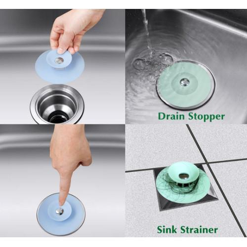 Foto Produk Flexible Drain Stopper & Sink Strainer / Sink Plug - Merah Muda dari angel-city