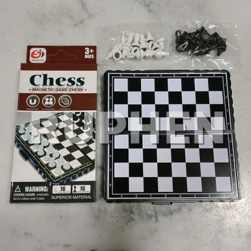 Foto Produk Catur Chess Magnet Mini Board Game Pocket Mainan Anak Portable Praktis dari Ruphen Shop