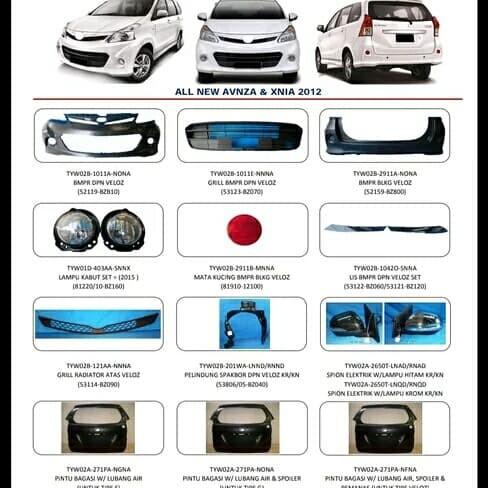 Foto Produk Pintu bagasi belakang avanza veloz 2012-2015 sebelum grand new dari mobil part shop