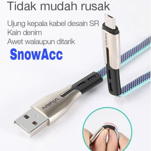 Foto Produk Vivan USB Kabel Data Android Micro Usb 2.4A Fast Charging 100cm BTK-M dari SnowAcc