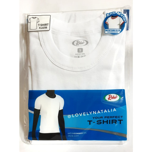 Foto Produk Kaos Dalam / Kaos Oblong Pria Rider Putih Round | O & V NECK - PUTIH - O Neck, M dari lovelynatalia12