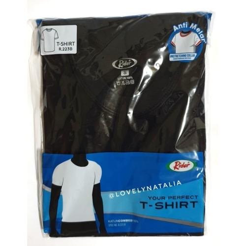 Foto Produk T-Shirt / Kaos Dalam / Oblong RIDER HITAM / O Neck - Style R223B - Hitam, L dari lovelynatalia12