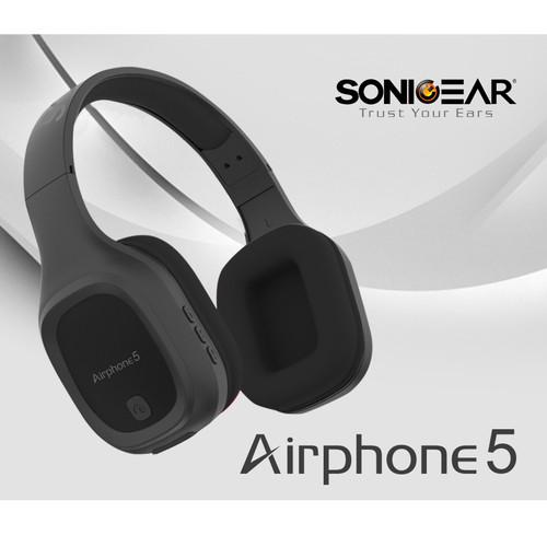 Foto Produk SonicGear Airphone 5 (2019) Bluetooth Headphone - Abu-abu dari manekistore