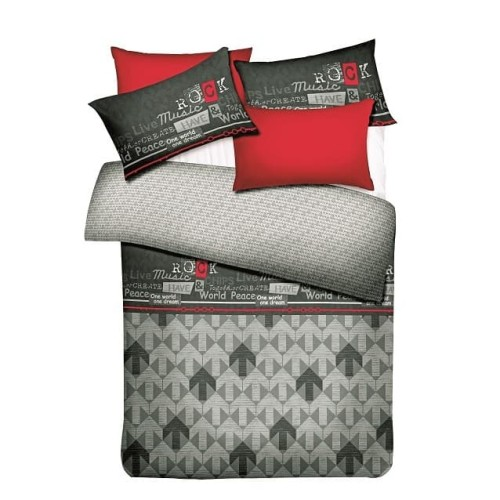 Foto Produk AI BY AKEMI LOVESOME DESIGN MUSIC DREAM FITTED SHEET SET - 100 x 200 cm dari AKEMI OFFICIAL STORE