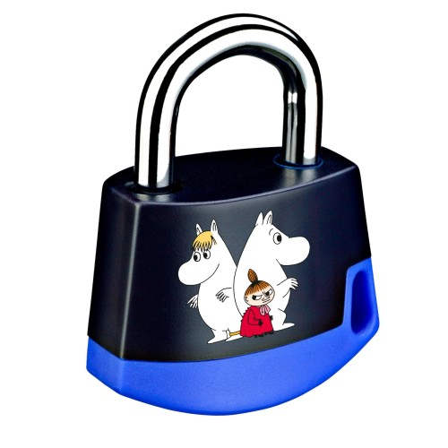 Foto Produk Padlock Dark blue/light blue MOOMIN Snorkmdn, Moomintroll n Litt 211M9 dari Abloy Official Store