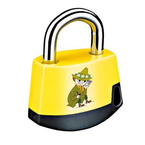 Foto Produk Padlock Yellow/black MOOMIN Snufkin 411M3 dari Abloy Official Store