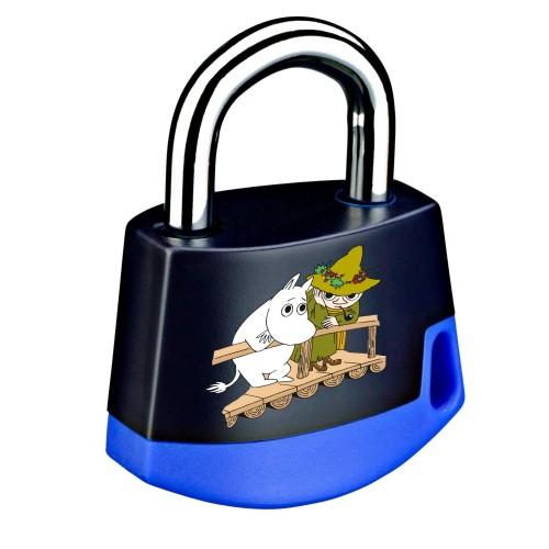 Foto Produk Padlock Dark blue/light blue Moomintroll and Snufkin on bridge 211M8 dari Abloy Official Store