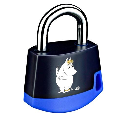 Foto Produk Padlock Dark blue/light blue MOOMIN Snorkmaide 211M4 dari Abloy Official Store