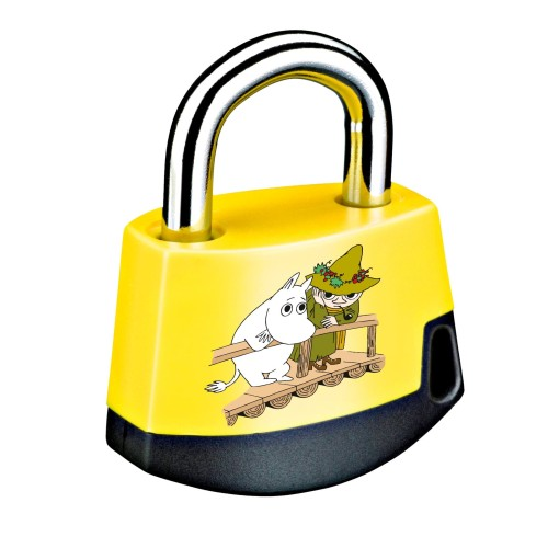 Foto Produk Padlock Yellow/black MOOMIN Moomintroll and Snufkin on bridge 411M8 dari Abloy Official Store