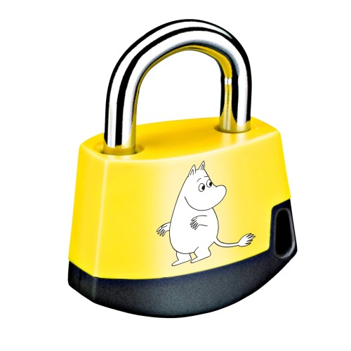 Foto Produk Padlock Yellow/black MOOMIN Moomintroll 411M1 dari Abloy Official Store