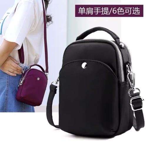 Foto Produk CB27930 Tas Selempang Wanita Import Chibao 3ruang size Mini - Hitam dari CR BAG IMPORT