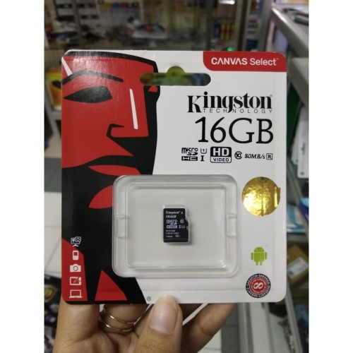 Foto Produk Micro SD Kingston 16 GB microSDHC 16 GB micro Secure Digital Card dari PojokITcom Pusat IT Comp