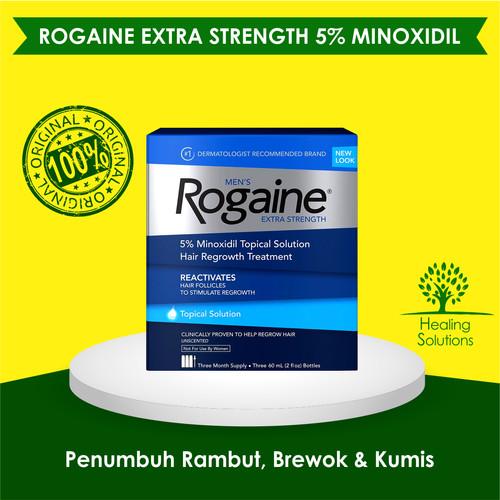 Foto Produk Rogaine Minoxidil Extra Strength Solution Liquid Segel Free Pipet dari Healing Solutions