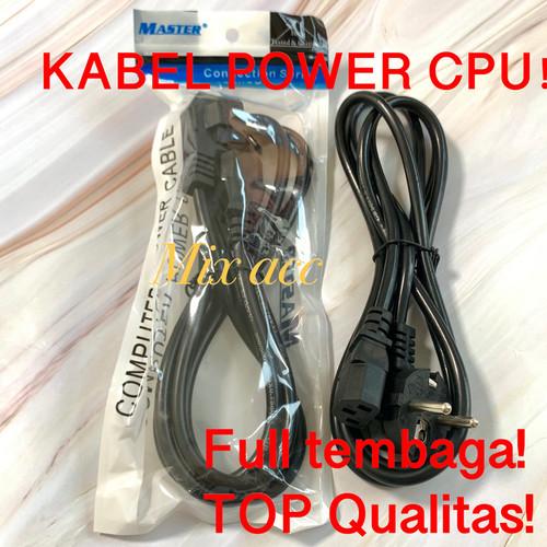 Foto Produk KABEL POWER CPU PC KOMPUTER KE LISTRIK 1.8M KUAT TOP HIGH QUALITAS dari mix acc888