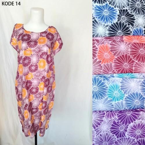 Foto Produk Grosir Daster Midi Rayon Murah Baju Tidur Kode 14 dari Tshirt Kita