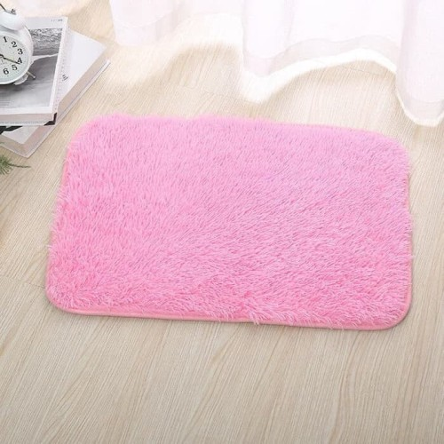 Foto Produk Krucils- Keset Lantai Bulu Ukuran 35x55cm ( Pink Muda ) dari Krucils Store