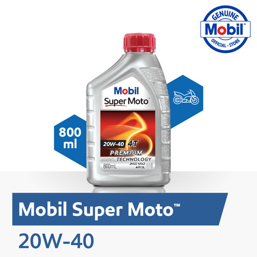 Foto Produk Oli Mesin – Mobil Super Moto 20W-40 (0.8 liter) dari Mobil Official Store