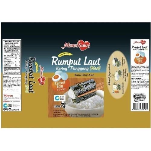 Foto Produk Mamasuka Rumput Laut Panggang Nori salted egg dari lolica shop