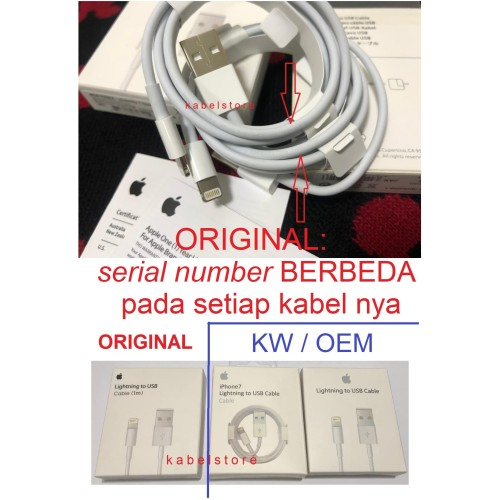Foto Produk kabel iphone Xs X max XR 11 8 7 ORIGINAL charger apple dari Kabel Store -KabelApple