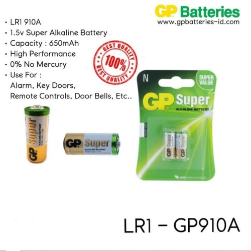 Foto Produk Baterai GP LR1 N Type 910A Super Alkaline 1.5V dari sakurashop29
